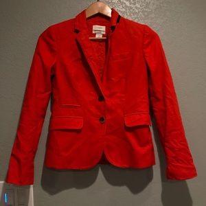STAINS J. Crew schoolboy 100% linen blazer